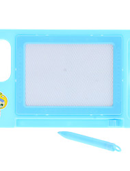 Square Magnetic Chalk Dry Erase White Board for Kids (Random Color)