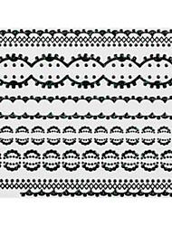 5PCS Black Lace Nail Stickers NO.5 mariage (couleurs assorties)