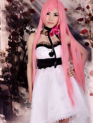 Inspired by Vocaloid Megurine Luka Video Game Cosplay Costumes Cosplay Suits / Dresses Patchwork White Sleeveless Dress / Headpiece