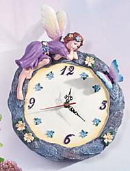 "12 ""Flower Fairy Polyresin Wanduhr"