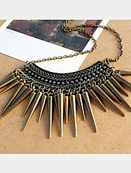 rebite das mulheres do vintage colar de franjas