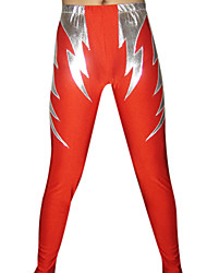 Red and Silver Lightning Spandex Pants