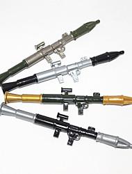 foguete lançador de plástico tinta azul caneta esferográfica (2pcs cores aleatórias)