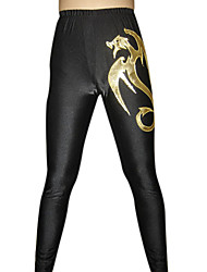 Golden Dragon Noir Spandex Pants