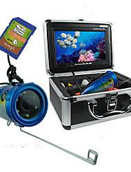 "30m Cable 7"" TFT Monitor 600TVL 120 Degree Fishing Underwater Recording Camera"