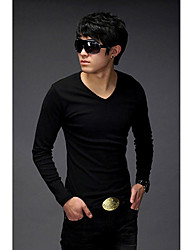 Men 's V-Ausschnitt Long A T-Shirt