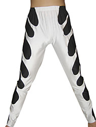 White and Black Spandex Pants