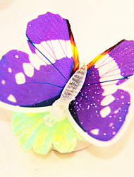 controllabile magnete luce frigorifero a forma di farfalla led (colori casuali)