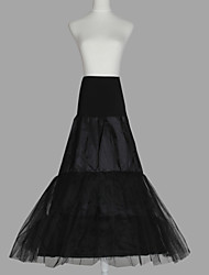 Slips A-Line Slip Floor-length 3 Tulle Netting Taffeta Organza Black As Picture
