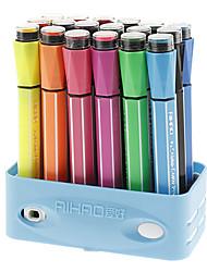 18 colori di colore di acqua Penne con Signet Caps Set (colore casuale)
