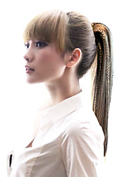 High Quality Synthetic Long Straight Ponytail with Braid