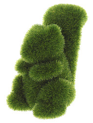 Трава Земля ручной белки животного с искусственным покрытием