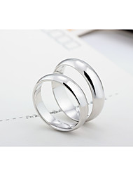 Classic Round 925 Sterling Silver Couples Rings
