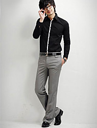 Men's Casual Flip Thicker Casual Slim Trousers