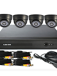 4 Channel CCTV DVR System(UPNP,4 Indoor Camera)