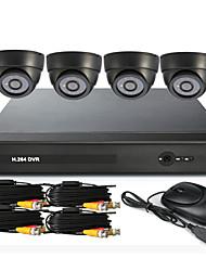 4 kanaals CCTV DVR Systeem (UPNP, 4 Indoor Camera)