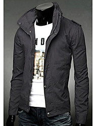 Men's Long Sleeve Casual Jacket Solid