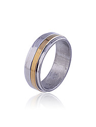 European Style Individuality Titanium Steel Multilevel  Ring