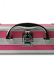 En alliage d'aluminium à double pont verrouillable professionnels cas cosmétique de maquillage Box 18 * 14 * 8cm