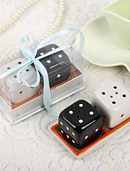 Dice дизайн керамические соль и перец шейкеры
