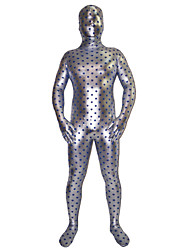 Silver Star Pattern Shiny Metallic Ganzkörper Zentai