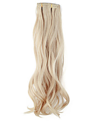 High Quality Synthetic 45 cm Clip-In Silky Wavy Hair Extension 6 Colors to Choose