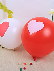 Wedding Décor Nice Heart Design Round Ballon - set of 50 (More Colors)