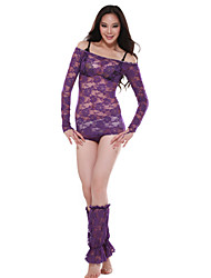 Performance Lace Dancewear Belly Dance Top and Gloves For Ladies More Colors