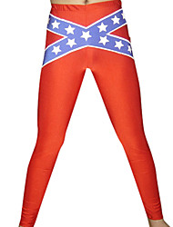 Red Stars Stripe Spandex Pants