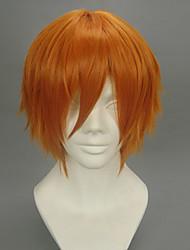 Cosplay Perücken Black Butler Puppet Master Orange Kurz Anime Cosplay Perücken 32 CM Hitzebeständige Faser Mann