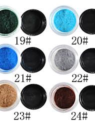 1PCS Velvet Nail Art Décorations No.19-24 (8 ml, couleurs assorties)