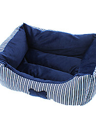 Comfortable Bone Stripe Pattern Cotton Bed for Dogs and Cats