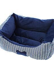 motif bande osseuse lit en coton confortable pour chiens et chats