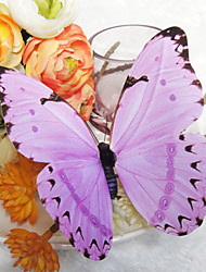 Wedding Décor Beautiful Lilac Plastic Butterfly (Set Of 6)