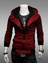 Männer Kontrast Farbe Hoodie Thin Coat