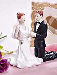Cake Topper Non-personalized Classic Couple / Religious Resin Wedding / Bridal Shower White / Black Garden Theme / Classic Theme Gift Box