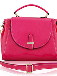 EUNI Fuchsia Compack Leather Tote