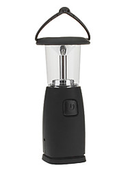 Dynamo / Energia Solar 6-LED Lanterna Tent (Black)