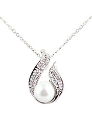 Fashionable Alloy Austrian Crystal Pearl Necklace(Assorted Colors)