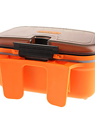 Plástico señuelo de la pesca Tackle Box Box (color al azar)