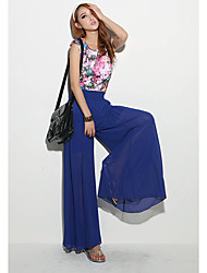 Women's Casual Pants , Chiffon Inelastic