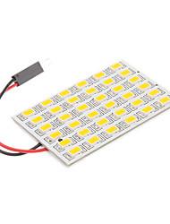 T10/BA9S/Festoon 8W 36x5730SMD Warm White Light Bulb LED para lâmpada de leitura do carro (12V)