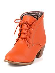 Chaussures Femme - Décontracté - Noir / Marron / Beige / Orange - Gros Talon - Bottes à la Mode - Bottes - Faux Cuir