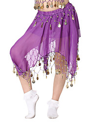 Dancewear Chiffon with Coins Belly Dance Skirt For Children More Colors