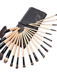 Findingcolor 24PCS Qualität Professionelle Wolle Kosmetik Pinsel Set FC044