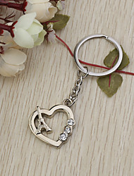 Heart&Eiffel Tower Key Ring Favor (Set of 6)