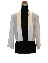 Party/Evening / Casual Chiffon Coats/Jackets Long Sleeve Wedding  Wraps