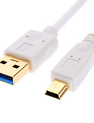 USB 3.0 A al cable Blanco 10P MINI para la impresora, intercambio de datos (1 m)