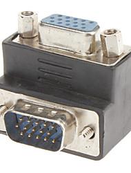 90 Grad bis VGA M / F Adapter
