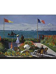 O Terraço em Sainte-Adresse, 1867 por Claude Monet Famosos em tela esticada